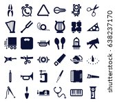 instrument icons set. set of 36 ... | Shutterstock .eps vector #638237170