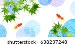 goldfish maple summer background | Shutterstock .eps vector #638237248