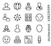 avatar icons set. set of 16...   Shutterstock .eps vector #638239399