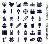 cold icons set. set of 36 cold... | Shutterstock .eps vector #638239960