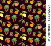 seamless vector pattern with... | Shutterstock .eps vector #638242324