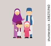 moslem family design vector | Shutterstock .eps vector #638251960