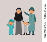 moslem family design vector | Shutterstock .eps vector #638251966