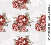 seamless floral pattern with... | Shutterstock .eps vector #638255080