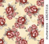 seamless floral pattern with... | Shutterstock .eps vector #638255116