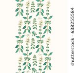 seamless ribbon pattern with... | Shutterstock .eps vector #638255584