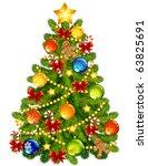 vector illustration   christmas ... | Shutterstock .eps vector #63825691