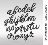 glossy black modern alphabet.... | Shutterstock .eps vector #638260399