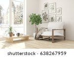 white room with armchair and... | Shutterstock . vector #638267959