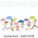 three generation family who... | Shutterstock .eps vector #638274958