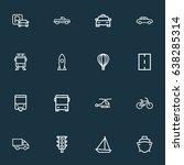 shipment outline icons set.... | Shutterstock .eps vector #638285314