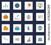 trade flat icons set.... | Shutterstock .eps vector #638286289