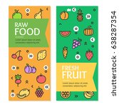 fresh fruit raw food flyer... | Shutterstock .eps vector #638287354