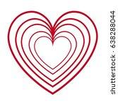 red heart love romantic feeling ... | Shutterstock .eps vector #638288044