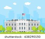 Cartoon White House Building...