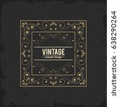 vintage exlusive design luxury... | Shutterstock .eps vector #638290264