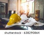 business engineer contractor... | Shutterstock . vector #638290864