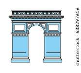 arc de triomphe icon image    Shutterstock .eps vector #638297656
