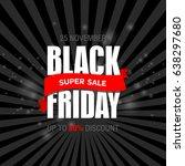 black friday sale inscription...   Shutterstock . vector #638297680