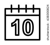 date vector line icon