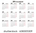 2018 calendar planner design. | Shutterstock .eps vector #638305309