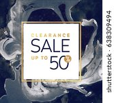clearance sale square black and ... | Shutterstock .eps vector #638309494