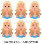 vector cartoon image of a set... | Shutterstock .eps vector #638309608