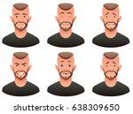 vector cartoon image of a set... | Shutterstock .eps vector #638309650