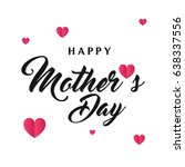 happy mother's day card with... | Shutterstock .eps vector #638337556