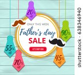 father's day sale offer.... | Shutterstock .eps vector #638346940