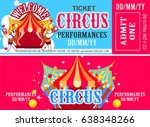 retro circus ticket | Shutterstock .eps vector #638348266