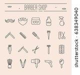 set of minimalistic barber shop ...   Shutterstock .eps vector #638349040