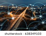 network and connection... | Shutterstock . vector #638349103