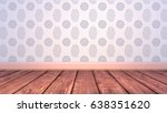 empty living room with easter...   Shutterstock . vector #638351620