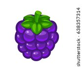 single blackberry berry with... | Shutterstock .eps vector #638357314
