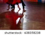 motion blur of couple dancers... | Shutterstock . vector #638358238