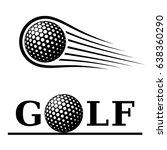 golf ball motion line text... | Shutterstock .eps vector #638360290