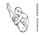 diving jumping sport   vector... | Shutterstock .eps vector #638364028