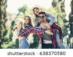 Stock photo happy young people having fun together 638370580