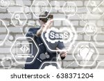 saas  software as a service ... | Shutterstock . vector #638371204