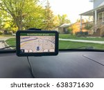 gps navigation system in the... | Shutterstock . vector #638371630
