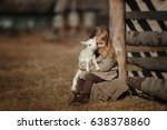 Little Girl With Lamb On The...