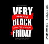 black friday sale inscription...   Shutterstock . vector #638383108