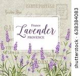 the lavender elegant card.... | Shutterstock .eps vector #638384083