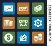 investment icons set. set of 9... | Shutterstock .eps vector #638384833