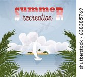 Summer Recreation Retro Poster. ...