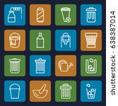 can icons set. set of 16 can... | Shutterstock .eps vector #638387014