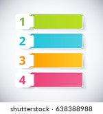 infographic label with 4 choice.... | Shutterstock .eps vector #638388988