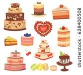 different wedding cream...   Shutterstock .eps vector #638400508