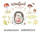 cute baby animal nursery... | Shutterstock . vector #638403214